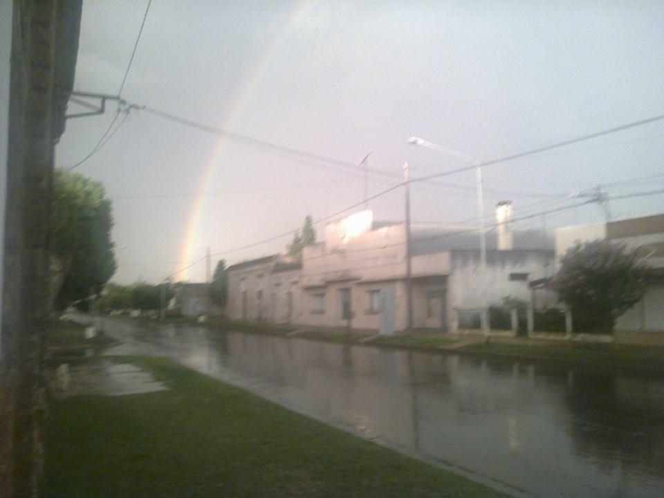El arco iris sobre Villa Saboya