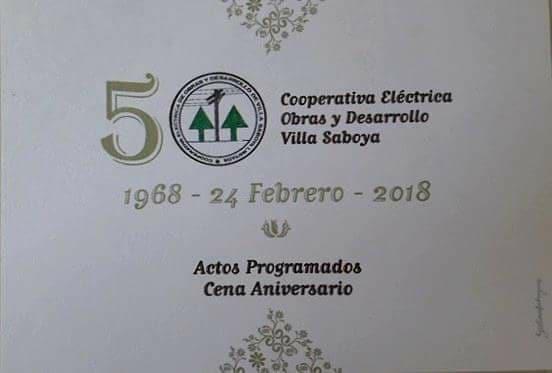 Nuestra Cooperativa Eléctrica cumple 50 años